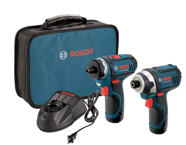 Bosch 12V Max Drill/Driver w/ Impact Driver + Batteries/Charge Kit