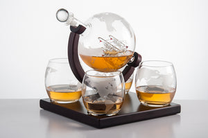 5 Piece Whiskey Decanter Gift Sets On Sale