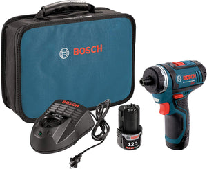Bosch 2 Speed Pocket Driver Kit With 2 Lithium-Ion Batteries, Charger And Case