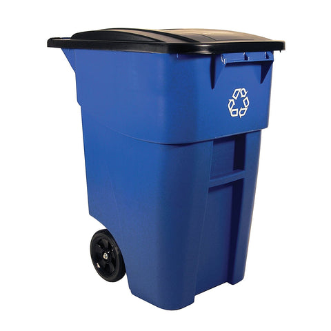 Rubbermaid Commercial Products Step-On Rollout Waste/Utility Container, 50 Gallon