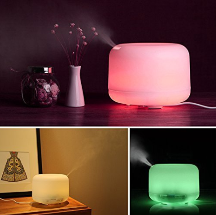 7 color changing 4-in-1 aromatherapy essential oil diffuser with timer