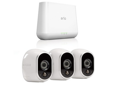 3 Arlo HD security camera with base