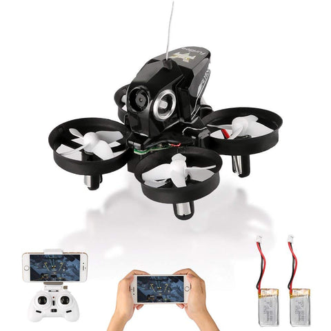 Mini drone with live video and 2 batteries
