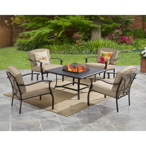 Mainstays Belden Park 5-Piece Fire Pit Set