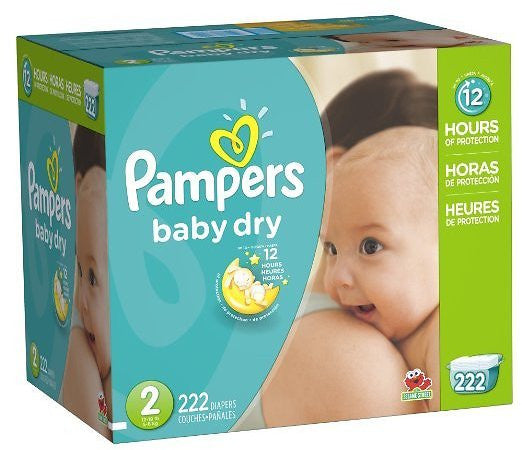 Pack of 222 size 2 Pampers Diapers