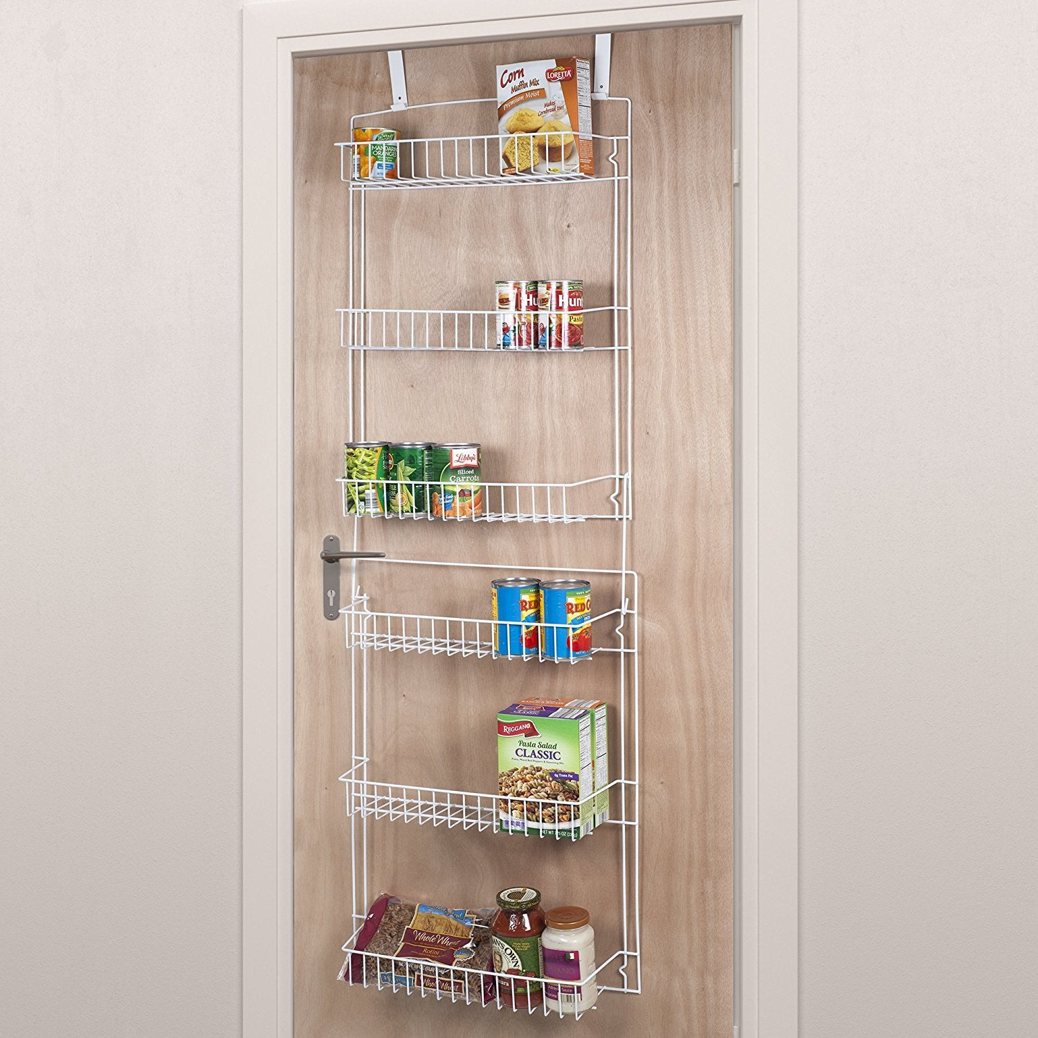 Lavish home closet organizer with 6 shelves over the door pantry organizer