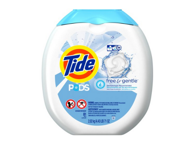 81 load tub of Tide PODS Free & Gentle