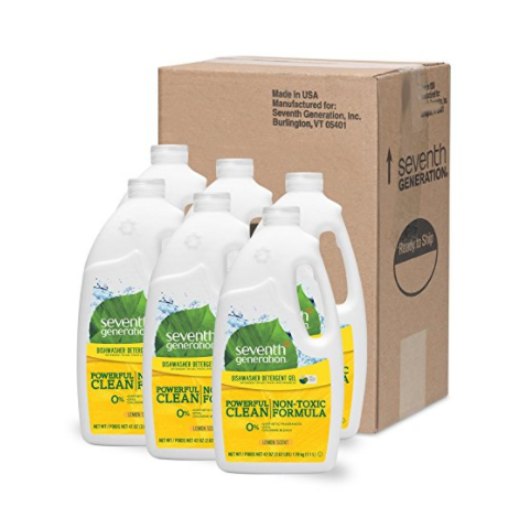 6 bottles of Seventh Generation dishwasher detergent