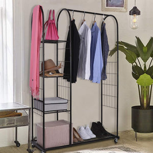 Heavy Duty Clothing Garment Rack With Wheels