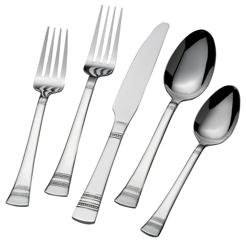 51-piece stainless steel flatware set