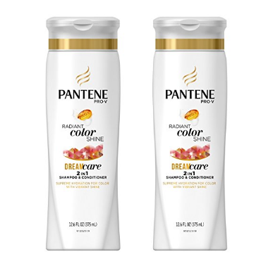 2 bottles of Pantene Pro-V 2in1 Shampoo