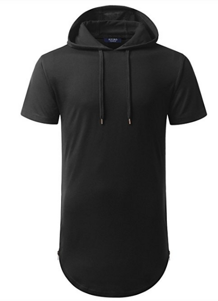 Men's short sleeve pullover hoodies