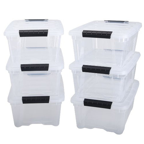 Pack of 6 IRIS stack & pull boxes