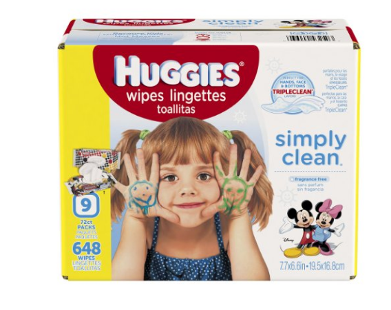 Pack of 648 HUGGIES baby wipes
