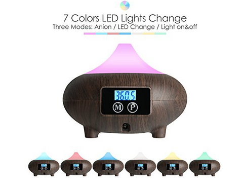 7 color changing essential oil diffuser
