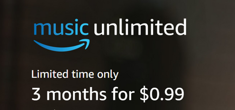 Limited Time Offer: Amazon Music Unlimited