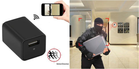 Hidden spy camera USB wall charger