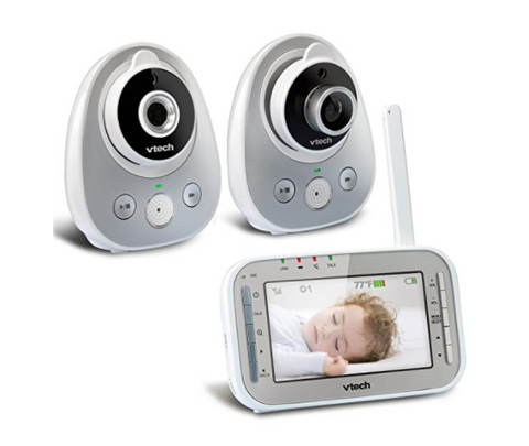 2 camera video baby monitor with talk back intercom