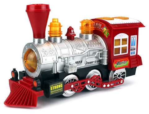 Steam Train Car Bubble Blowing Bump & Go w/ Lights & Sounds