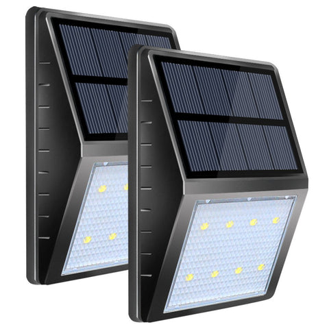 Pack of 2 solar LED lights