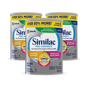 3-Pack 36oz Similac Pro-Advance Non-GMO Infant Formula with Iron