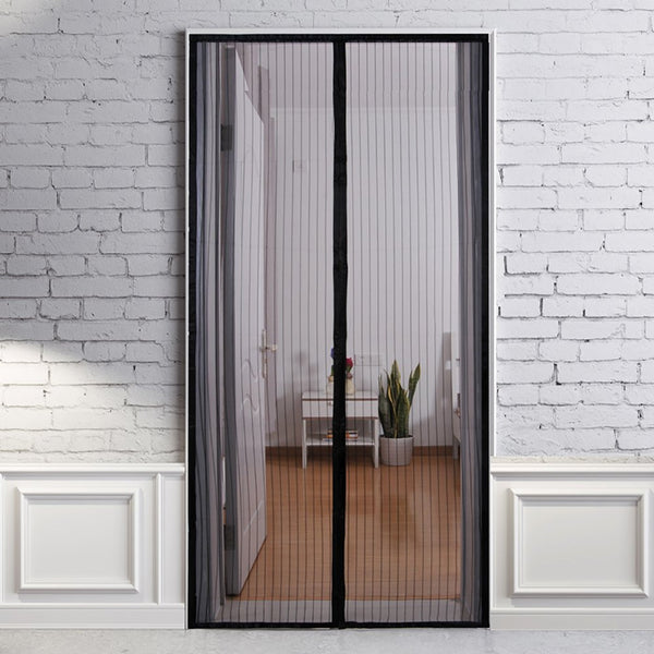 Magnetic screen door mesh curtain