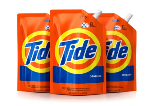 Pack of 3 Tide Smart Pouch detergent, 93 loads