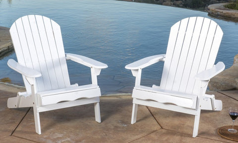 Folding Adirondack Chairs (2-Piece). Multiple Colors Available.