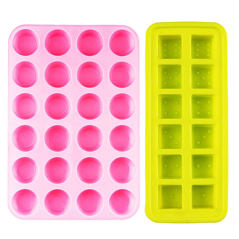 Silicone ice cube tray & candy cake chocolate mold