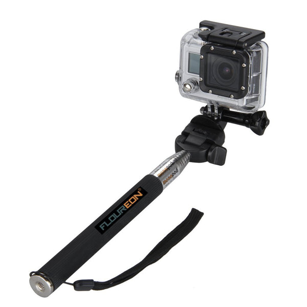 Selfie stick and tripod adapter for GoPro