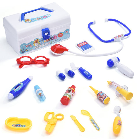 18 piece doctor playset with electronic stethoscope