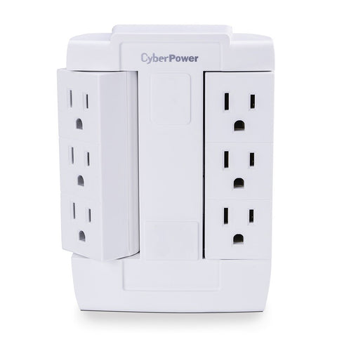CyberPower 6 Outlet Swivel Grounded Wall Tap