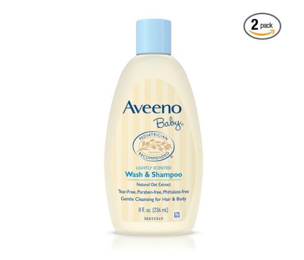 Pack of 2 Aveeno Baby Wash & Shampoo