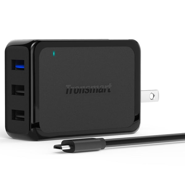 3-port USB wall quick charger