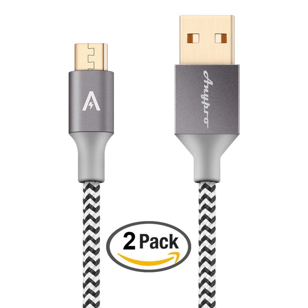 Pack of 2 braided 2.0 Micro-USB to USB cables