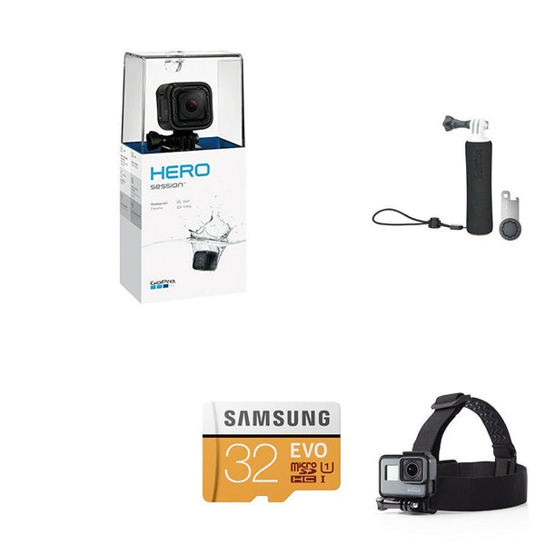 GoPro Session w/ GoPro Handler, Samsung 32GB SD Card & Headstrap