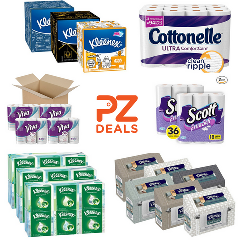 Up to 25% off Kleenex, Scott, Viva and Cottonelle tissues, paper towel and toilet paper