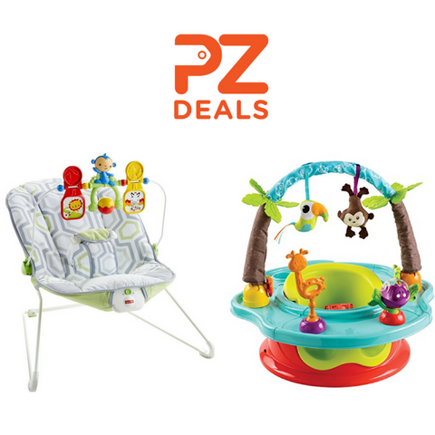 Summer Infant 3-Stage Deluxe SuperSeat and Fisher-Price Baby's Bouncer on sale