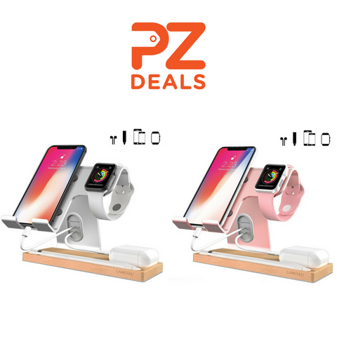 Cell phone and Apple Watch stand