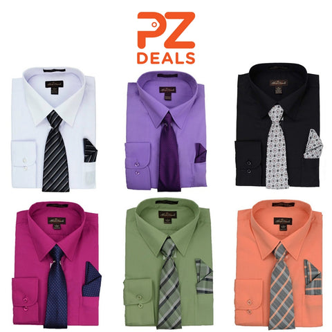 Alberto Danelli dress shirts with matching tie and handkerchief set
