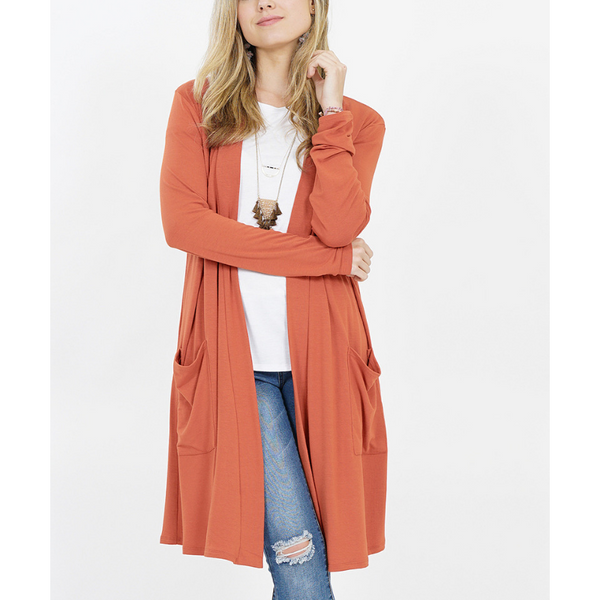 Slouchy-Pocket Open Cardigans (25 Colors)