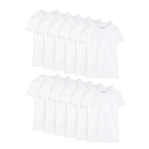 Pack Of 12 Fruit of the Loom A-Shirts, Crew Neck Or V-Neck T-Shirts On Sale