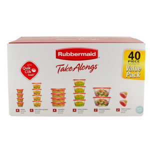 40 Piece Rubbermaid TakeAlongs Food Storage Containers
