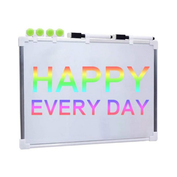 Magnetic Dry Erase Whiteboard with 2 Dry Erase Markers and 4 Magnets