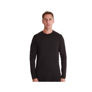 Men's Long Sleeve Thermal Shirt Compression Base Layer Crew Neck Top (3 Colors)
