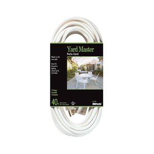 Yard Master White Patio 40′ 16 Gauge Extension Cord