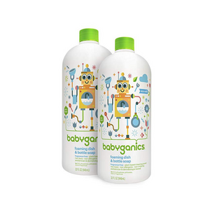 2-Pack of 32-Oz Babyganics Foaming Dish & Bottle Soap (Fragrance Free)