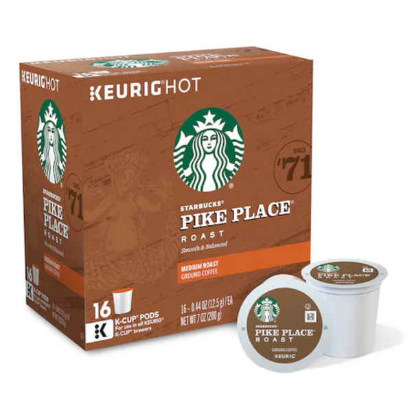 16 Keurig Starbucks, Donut Shop, Dunkin Donuts & Much More Coffee K-Cups