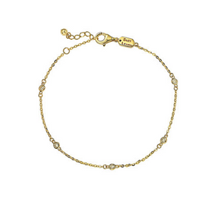 Suzy Levian 14K 0.15 ct. tw. Diamond Station Bracelet (3 Colors)