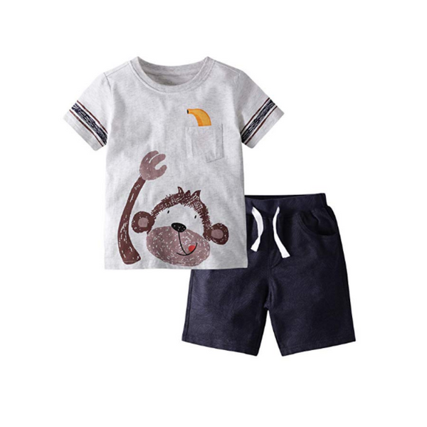 Little Boy's Cotton Short Clothes Sets (3 Styles)